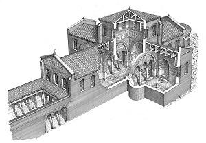 Disegno ricostruttivo della Basilica Apostolorum.