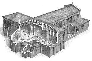 Disegno ricostruttivo della Basilica Virginum.