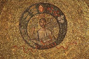 Sacello di San Vittore in Ciel d'Oro: particolare della rappresentazione di San Vittore.
