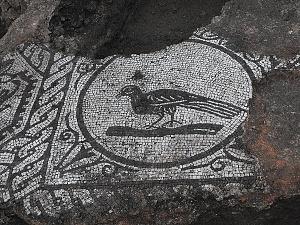 Particolare del mosaico figurato della sala T.