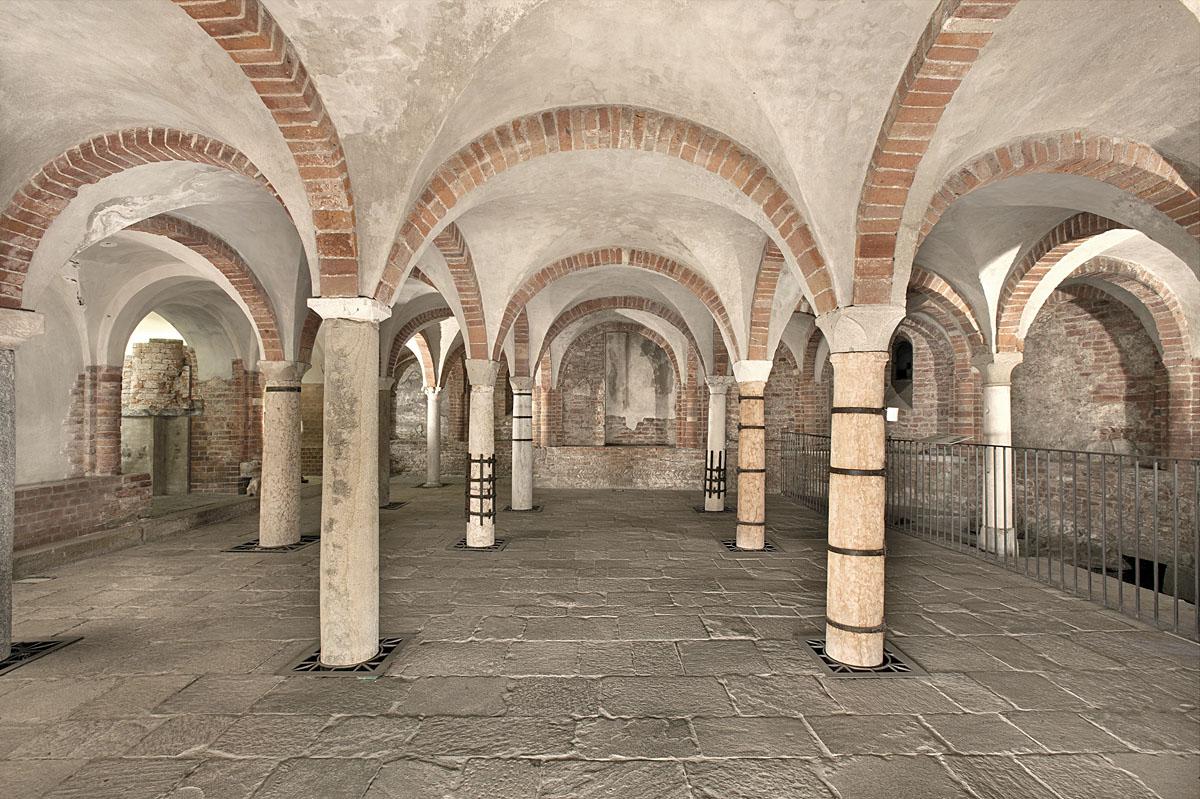 La cripta della chiesa di San Giovanni in Conca.